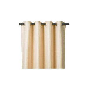 Photo of Finest Oban Texture Weave Lined Eyelet 229X229 - Natural Curtain
