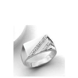 9ct white gold Diamond Gents Ring V Reviews