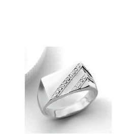 9ct white gold Diamond Gents Ring V Reviews
