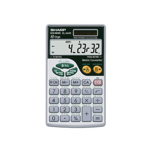 Photo of EL344R Hand Held Calculator Scientific Calculator