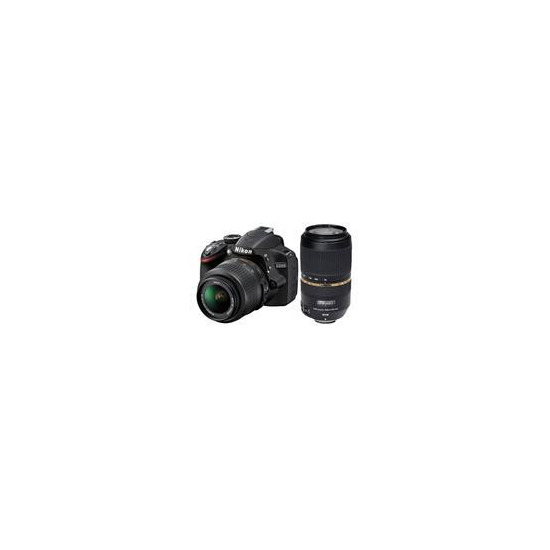 Nikon D3200 Twin Lens Bundle - Nikon 18-55 and Tamron 70-300 VC