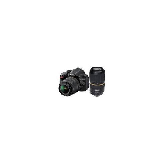 Nikon D3200 Twin Lens Bundle - Nikon 18-55 and Tamron 70-300 VC