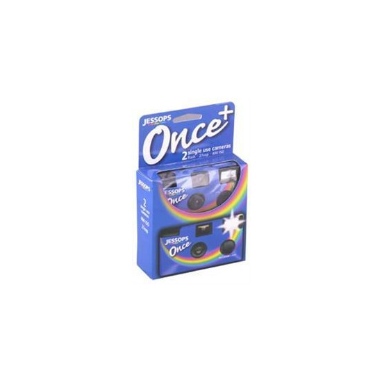Once Camera With Flash - 35mm 27 Exposures - Pack Of 2