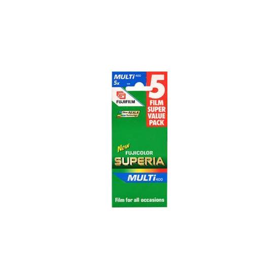 Fujifilm Superia 400 35MM 36 Exposure Pack Of 5