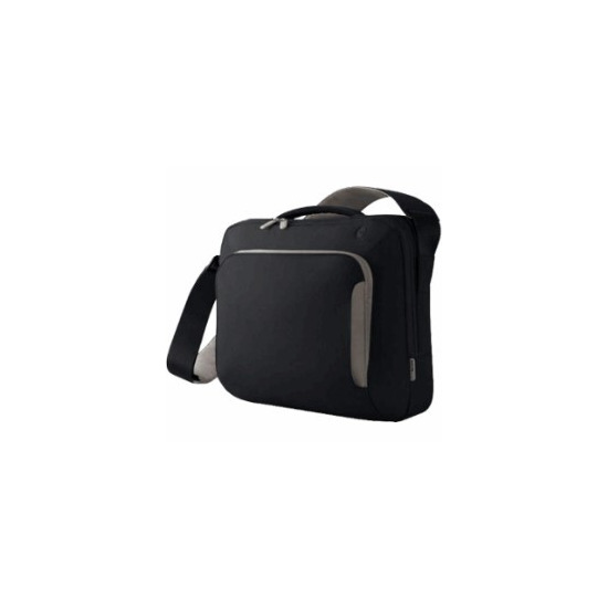 Belkin Neoprene Messenger Bag 17 inch  Pitch Black/Soft Grey