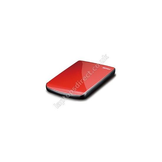 Buffalo MiniStation Lite 500GB USB 2.0 Portable Hard  Drive (Red)