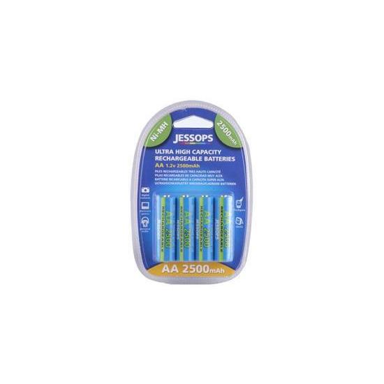 Jessops Nickel Metal Hydride Batteries Aa 2500mah Pack Of 4