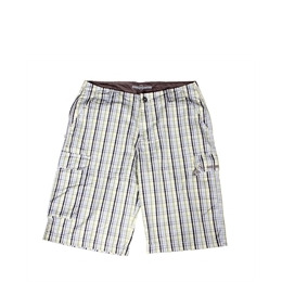Duck and Cover Issue Shorts  Yellow Blue Check Reviews