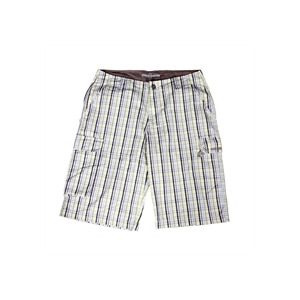 Photo of Duck and Cover Issue Shorts  Yellow Blue Check Trousers Man