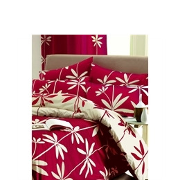 Palm Red Quilt Cover Set King Size Reviews