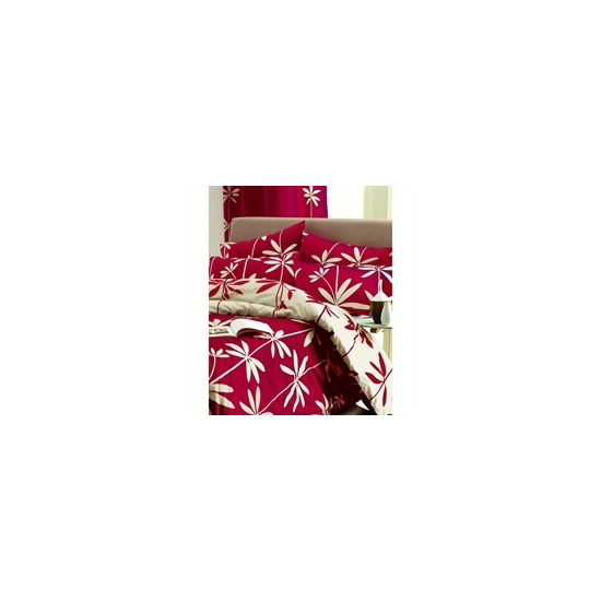 Palm Red Quilt Cover Set King Size