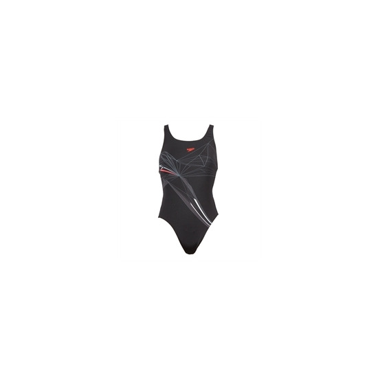 Speedo Ice Placement Swimsuit - Black