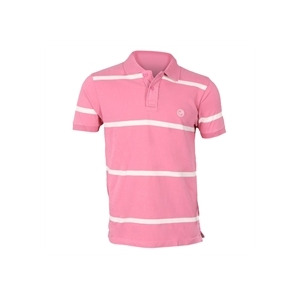 Photo of Peter Werth Pink Striped Polo T Shirts Man