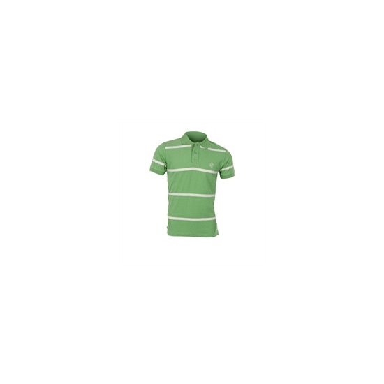 Peter Werth Green Striped Polo