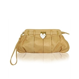 Suzy Smith Peach Clutch bag with Heart Reviews