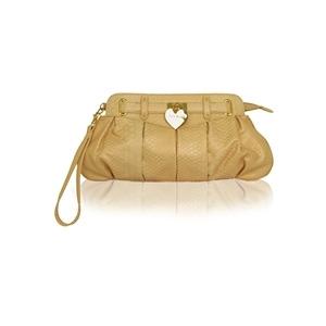 Photo of Suzy Smith Peach Clutch Bag With Heart Handbag