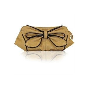 Photo of Suzy Smith Bow Clutch Bag Vanilla Handbag