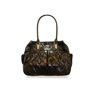 Photo of Suzy Smith Patent Quilted Bag Black Handbag