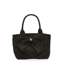 Suzy Smith Leather Bow Bag - Black Reviews