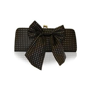Photo of Suzy Smith Bow Clutch Bag Black Handbag