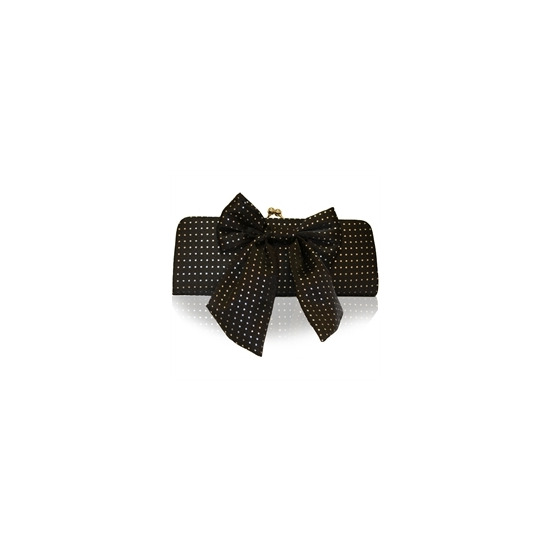 Suzy Smith Bow Clutch Bag Black