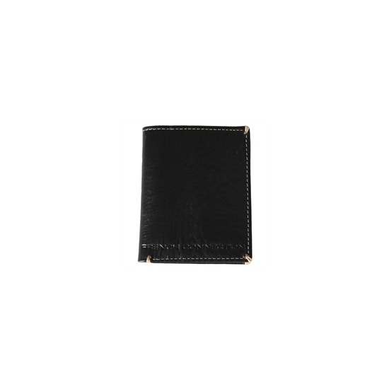 French Connection Black Contrast Stitch Wallet