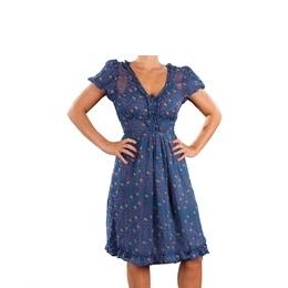 Eucalyptus Chiffon Floral Dress Blue Reviews