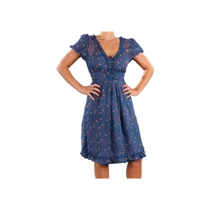 Photo of Eucalyptus Chiffon Floral Dress Blue Dress