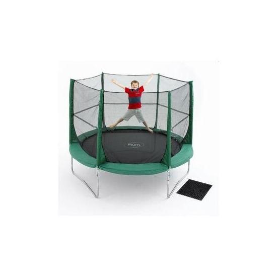 Plum Family 10ft Trampoline + Enclosure + Cover