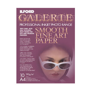 Photo of Ilford A4 Fine Art INKJET Paper Pack Of 10 Printer Accessory
