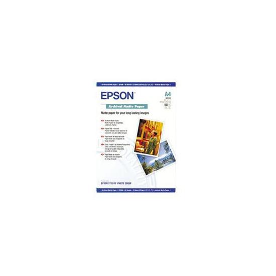 Epson A4 Archival Matte Paper (50 Sheets)