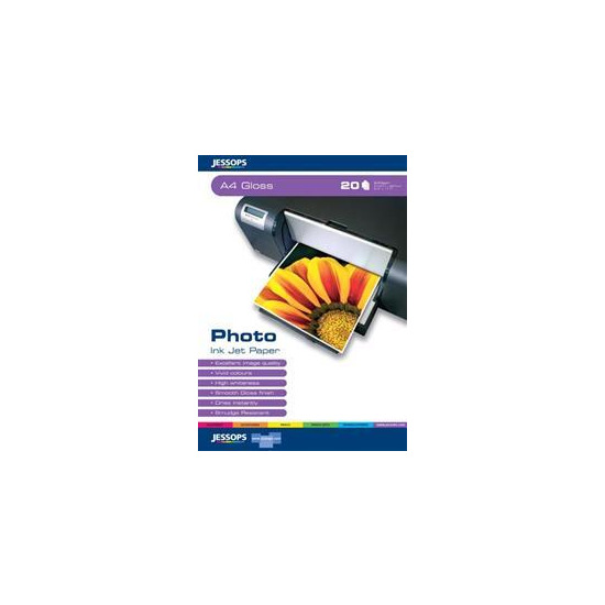 Jessops Photo Inkjet Paper A4 Glossy Pack Of 20