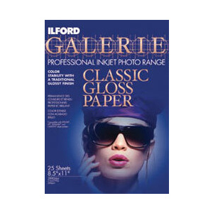 Photo of Ilford Galerie A4 Classic Gloss INKJET Paper (Pack Of 25) Printer Paper