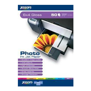 Photo of Jessops Photo INKJET Paper 6 X 4 Inch Gloss Pack Of 50 Photo Paper