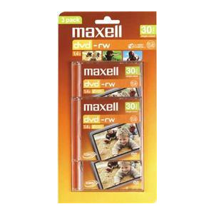Photo of Maxell 8CM DVD RW Discs Pack Of 3 DVD RW