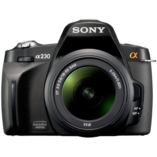 Sony Alpha DSLR-A230L with 18-55mm lens