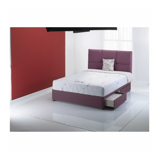Mayfair King 4 drawer divan set in Damson
