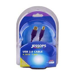 Photo of Jessops USB 2 0 Cable A B 1 8 Metres Gold Series USB Lead