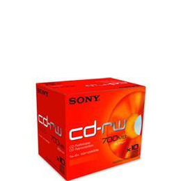 Sony CDRW 80 minutes (700MB) (Pack of 10 Jewel Cases) Reviews