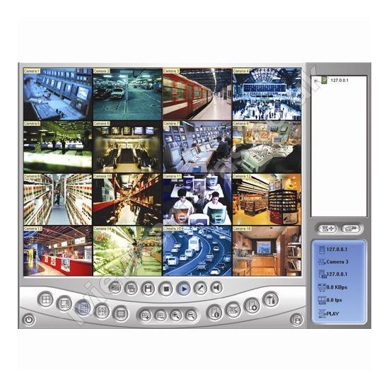 Geovision 16 Camera 50FPS Surveillance Software and Capture Card
