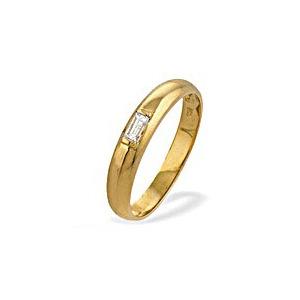Photo of 18K Gold Diamond Baguette Ladies Ring (0.10CT) Jewellery Woman