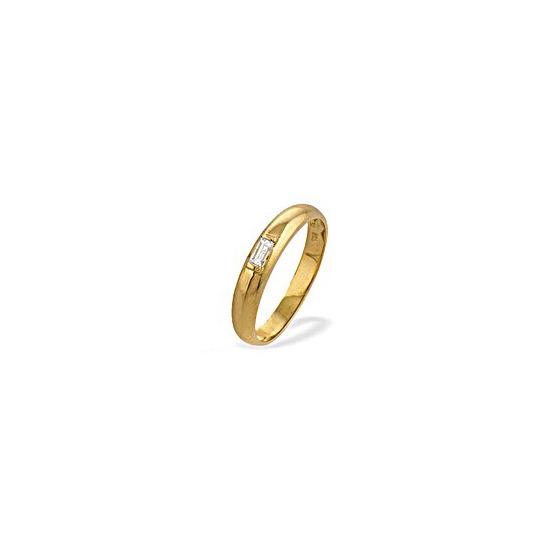 18K Gold Diamond Baguette Ladies Ring (0.10ct)