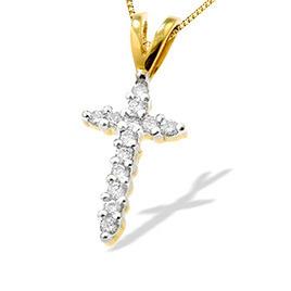 9K Gold Diamond Cross Pendant (0.25ct) Reviews