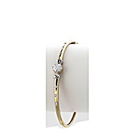 9K Gold Flower Feature Diamond Bangle (0.22ct) Reviews