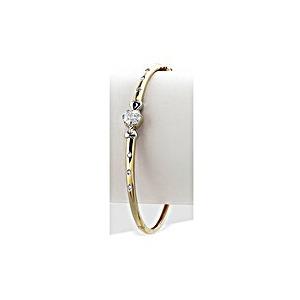Photo of 9K Gold Flower Feature Diamond Bangle (0.22CT) Jewellery Woman