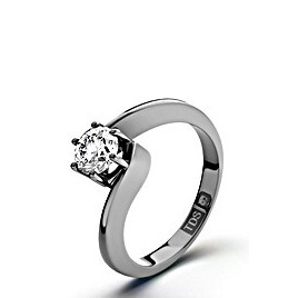 Certified 0.70CT Leah Platinum Engagement Ring H/SI1 Reviews