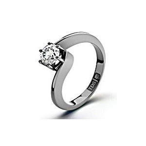 Photo of Certified 0.70CT Leah Platinum Engagement Ring H/SI1 Jewellery Woman