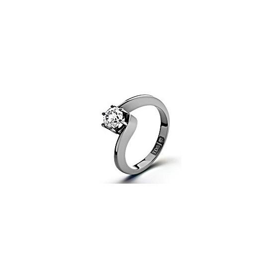 Certified 0.70CT Leah Platinum Engagement Ring H/SI1