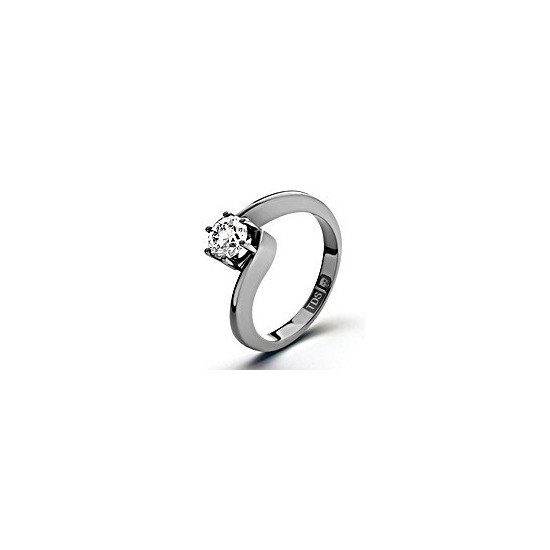 Certified 0.70CT Leah Platinum Engagement Ring H/SI1