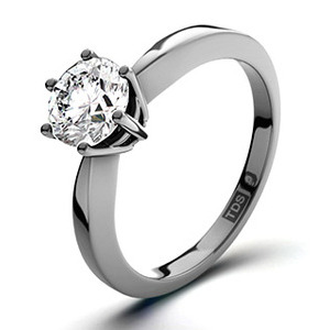 Photo of Certified 1.00CT Chloe High 18K White Gold Engagement Ring g/VS1 Jewellery Woman
